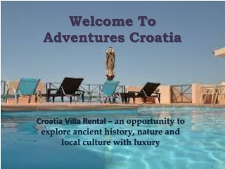 Croatia Villa Rental