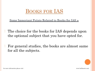 Books for IAS online