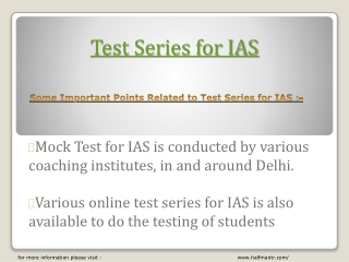 The best test series for IAS exam