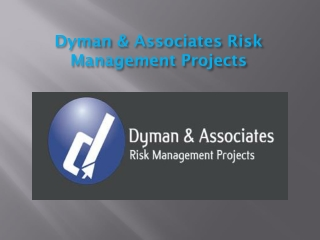 About Us , Dyman & Associates Risk Management Projects