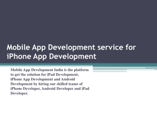 Android and iPad App Development India with MADI