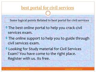 Latest steps best portal for civil services