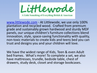 Littlewode - Children Furniture - Kids Furniture Sale
