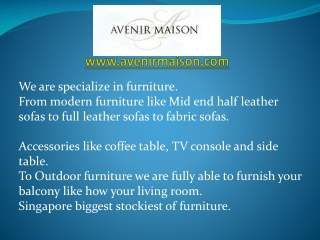 Avenir Maison � Furniture Stores