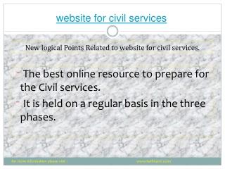 halfmantr provide the  best website for civil services