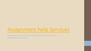 Assignment Help Servcies