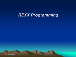 REXX Programming