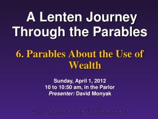 A Lenten Journey Through the Parables