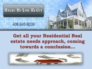 We provide Residential Realestate.
