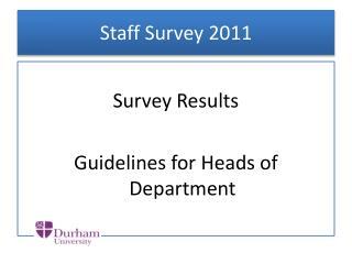 Staff Survey 2011