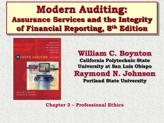 modern auditing:assurance services and the integrity of financial reporting, 8th edition