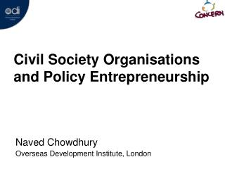 Civil Society Organisations and Policy Entrepreneurship