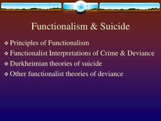 functionalism  suicide