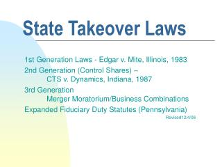 state takeover laws