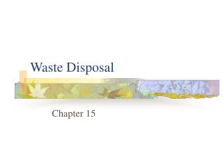 waste disposal