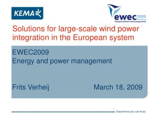 Solutions for large-scale wind power integration in the European system