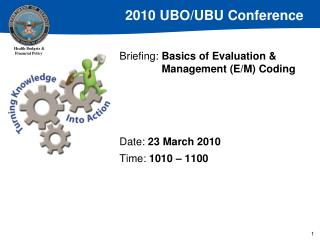 Briefing: Basics of Evaluation   Management E