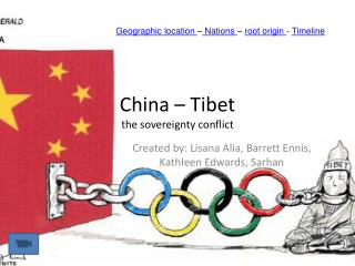 China   Tibet the sovereignty conflict