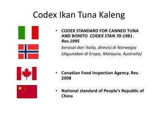 Codex Ikan Tuna Kaleng