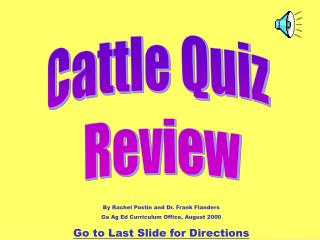 Cattle Quiz  Review