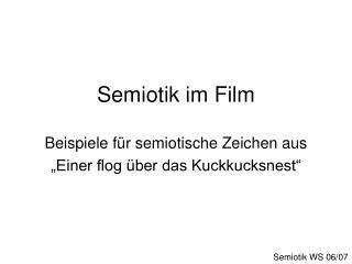 Semiotik im Film  Beispiele f r semiotische Zeichen aus   Einer flog  ber das Kuckkucksnest