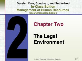 Dessler, Cole, Goodman, and Sutherland In-Class Edition Management of Human Resources  Second Canadian Edition