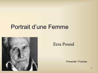 Portrait d une Femme