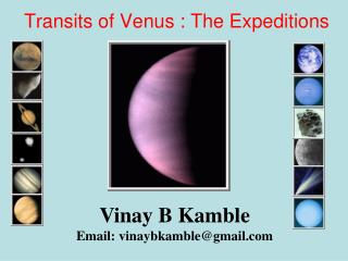Transits of Venus : The Expeditions