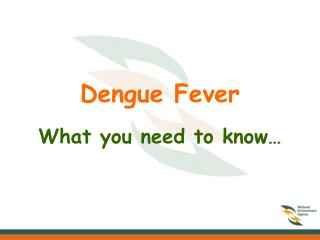 Dengue Fever  What you need to know