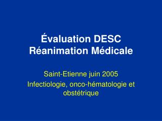 valuation DESC R animation M dicale
