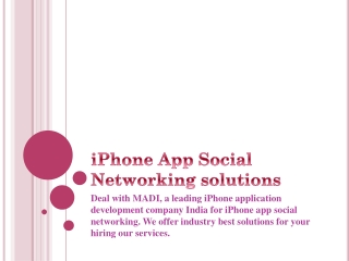 iPhone Social Networking App Development service