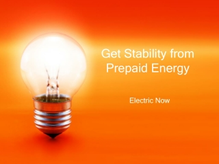 Get Stability from Prepaid Energy