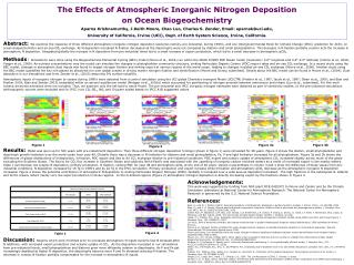 The Effects of Atmospheric Inorganic Nitrogen Deposition  on Ocean Biogeochemistry Aparna Krishnamurthy, J.Keith Moore,