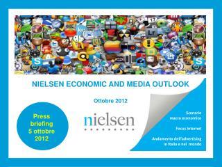 Scenario  macro economico  Focus Internet  Andamento dell advertising  in Italia e nel  mondo