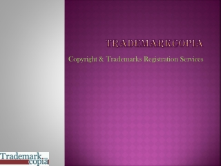Copyright Trademarks Registration Services