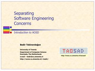 Separating  Software Engineering  Concerns  Introduction to AOSD