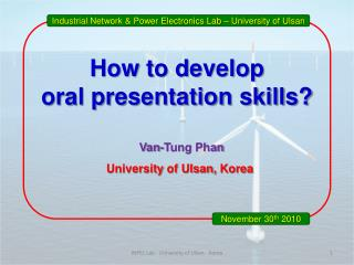 How to develop  oral presentation skills