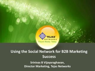 Using the Social Network for B2B Marketing Success