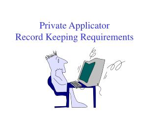 Private Applicator Record Keeping Requirements