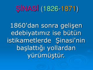 SINASI 1826-1871