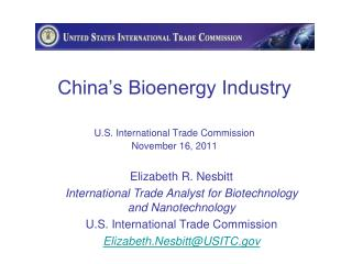 China s Bioenergy Industry