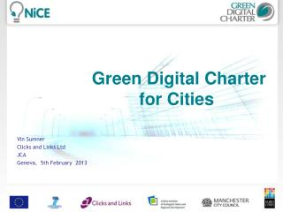 Green Digital Charter for Cities