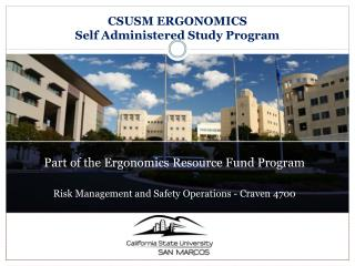 Part of the Ergonomics Resource Fund Program