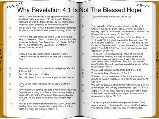 Why Revelation 4:1 Is Not The Blessed Hope