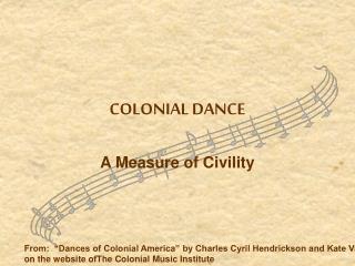 COLONIAL DANCE