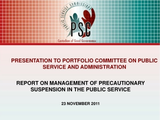 disciplinary procedures for public servants