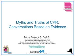 Myths and Truths of CPR:  Conversations Based on Evidence