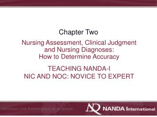 TEACHING NANDA-I  NIC AND NOC: NOVICE TO EXPERT