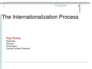 The Internationalization Process