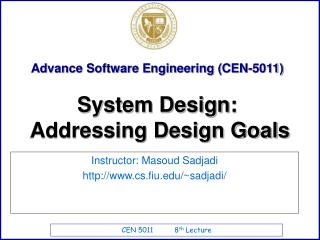 Advance Software Engineering CEN-5011